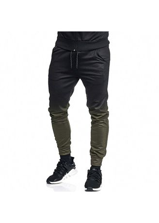 3533b2f5e26582 Mens Hipster Jogging Pants Gradient Color Jogger Pants Trousers Hip ...