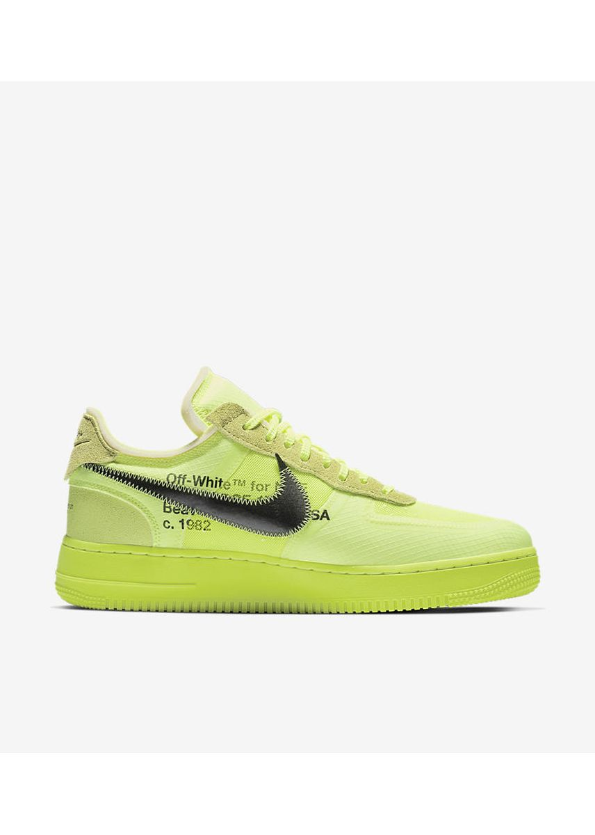 Green color Casual Shoes . Nike x Off White Air Force 1 Volt -