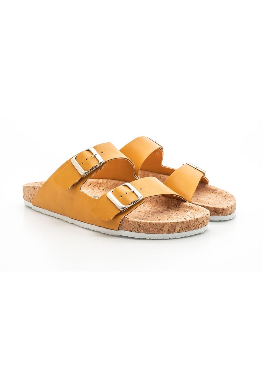 Yellow color Sandals and Slippers . U&Me - Mustard -