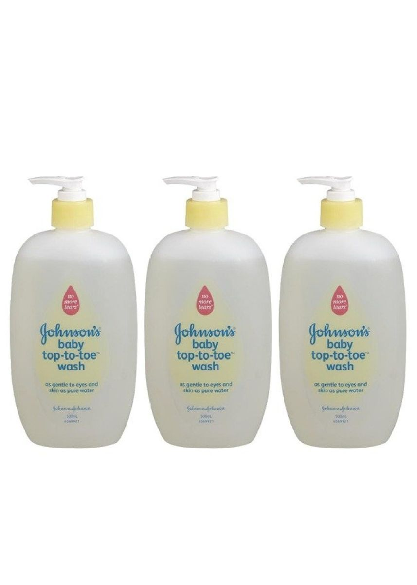 No Color color Body Bars . Johnson´s baby top-to-toe wash 500ml (3ขวด) -
