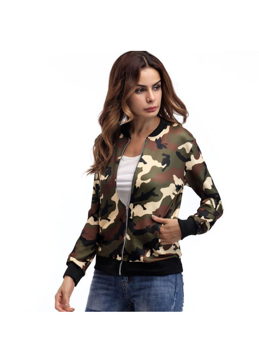 Green color Jackets . Womens Classic Quilted Jacket Short Bomber Jacket Coat -