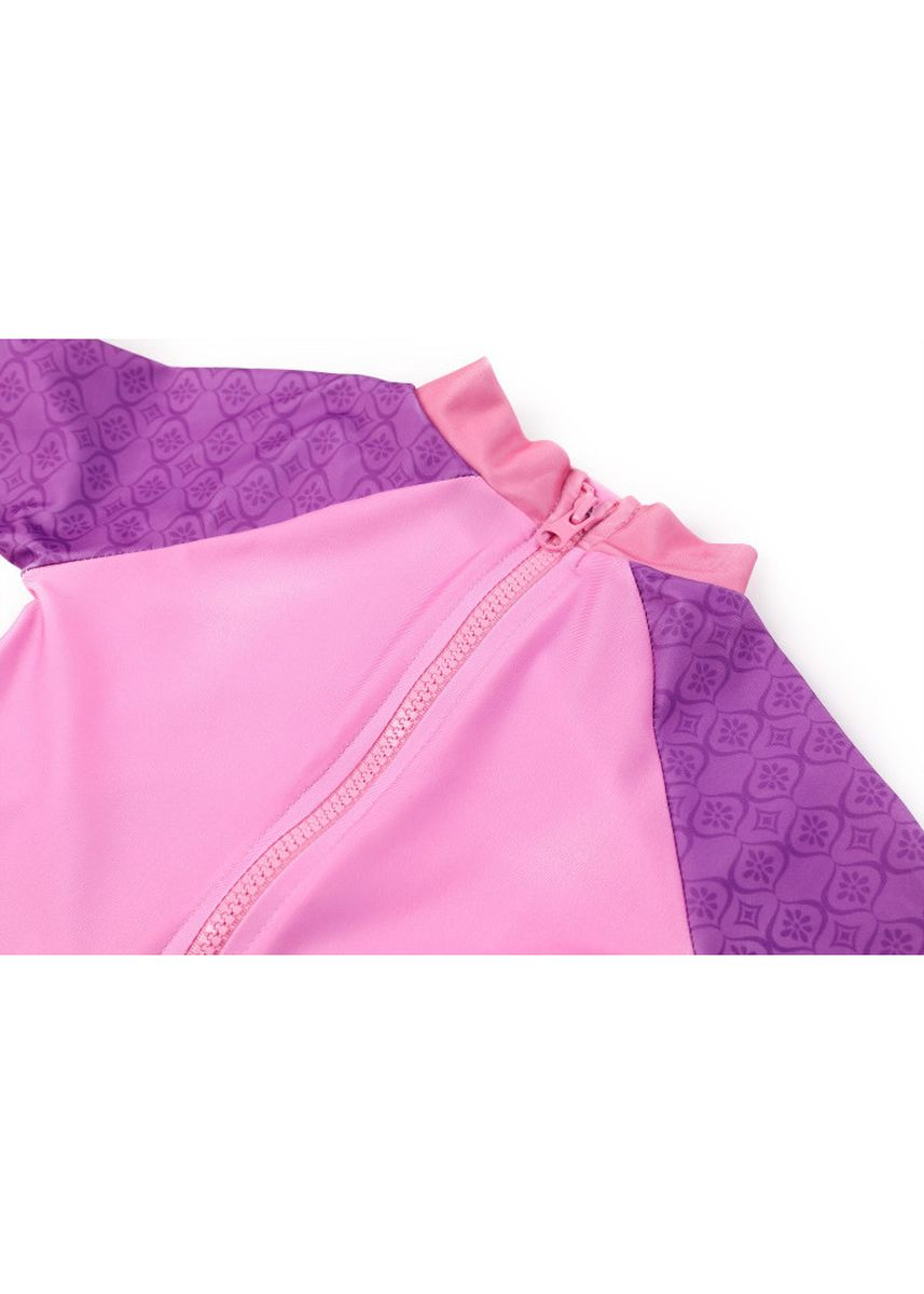 Pink color Beachwear/Swimwear . Children's Connected Flat-angle Swimsuit -