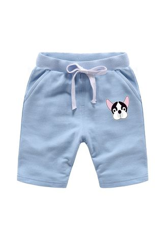 Light Blue color Bottoms . Cotton Boys Baby Kids Child Shorts 34 Pants 56 Years Old -