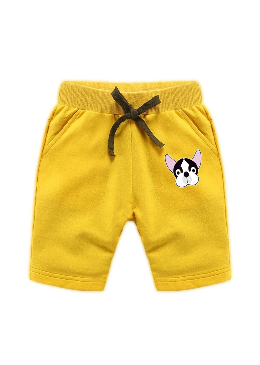 Yellow color Bottoms . Cotton Boys Baby Kids Child Shorts 34 Pants 56 Years Old -