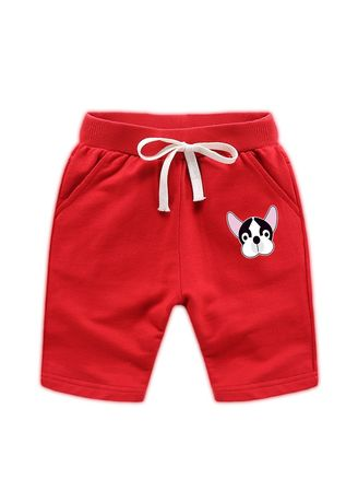 Red color Bottoms . Cotton Boys Baby Kids Child Shorts 34 Pants 56 Years Old -