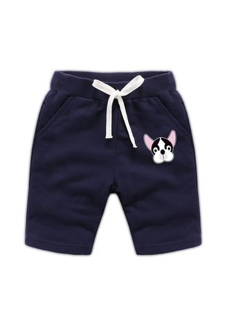 Navy color Bottoms . Cotton Boys Baby Kids Child Shorts 34 Pants 56 Years Old -