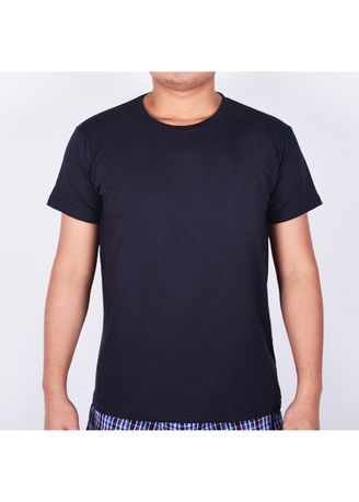 Black color T-Shirts and Polos . Sunjoy Round Neck T-shirt -
