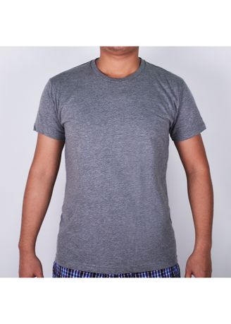 Grey color T-Shirts and Polos . Sunjoy Round Neck T-shirt -