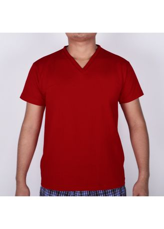 Red color T-Shirts and Polos . Sunjoy V-Neck T-Shirt -