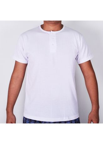 White color T-Shirts and Polos . Sunjoy Camisa Short Sleeves -