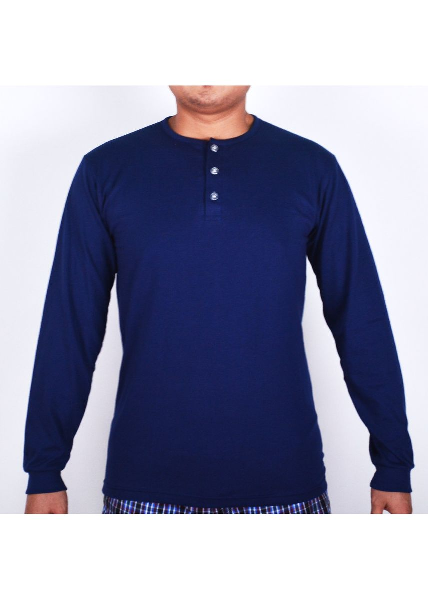 Blue color T-Shirts and Polos . Sunjoy Camisa Long Sleeves -