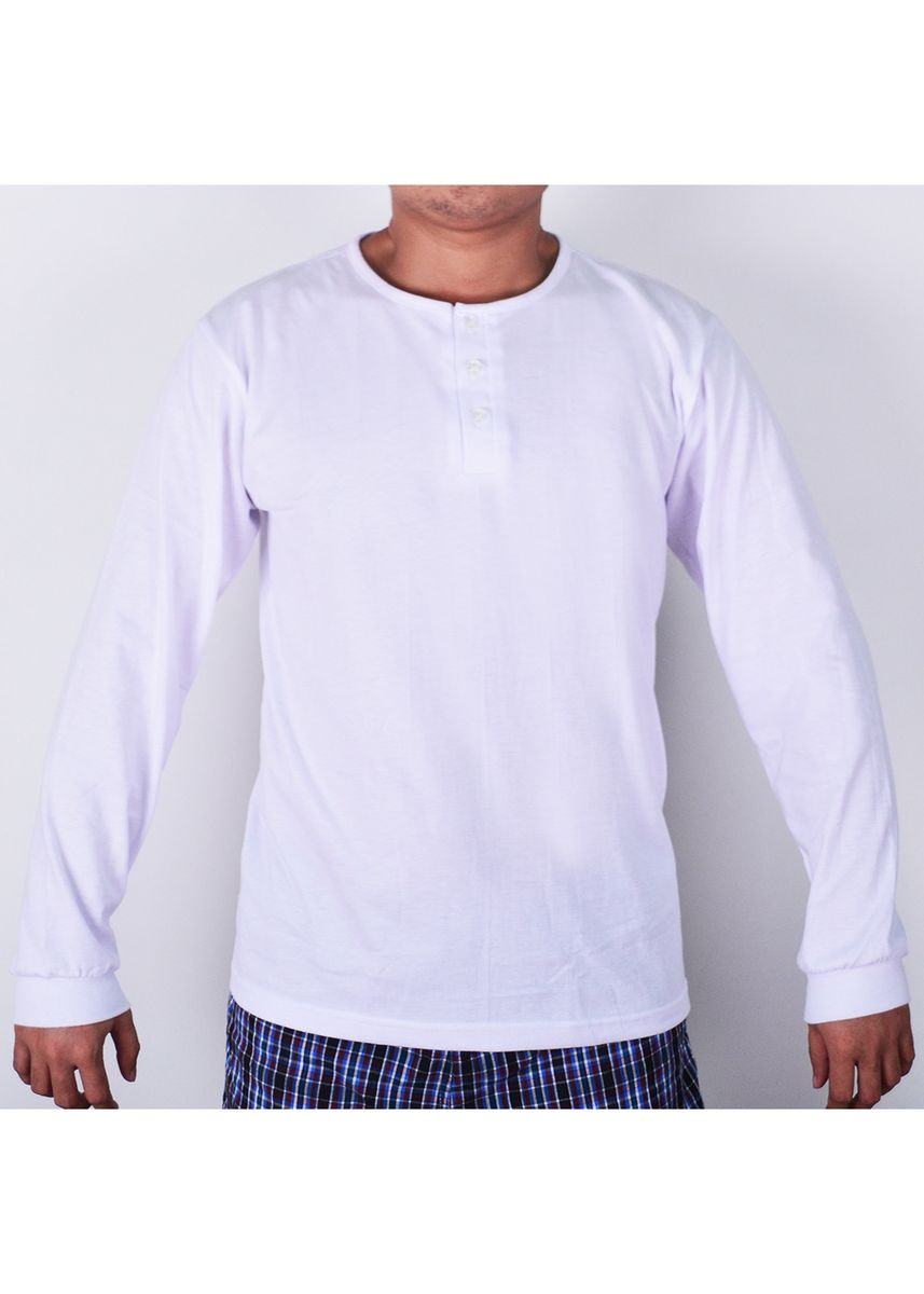 White color T-Shirts and Polos . Sunjoy Camisa Long Sleeves -