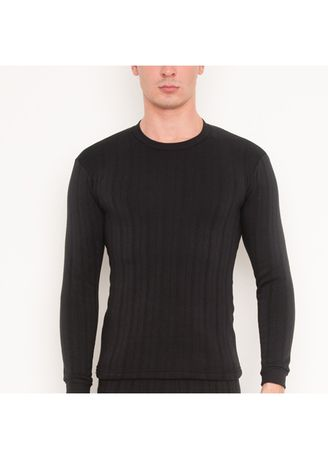 Black color T-Shirts and Polos . Sunjoy Thermal Top -