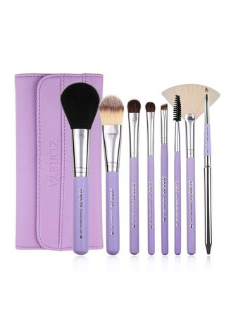 2cc0a7ff98a7 ZOREYA Makeup Brushes 8pcs with Brush Holder Case ZS8 Purple