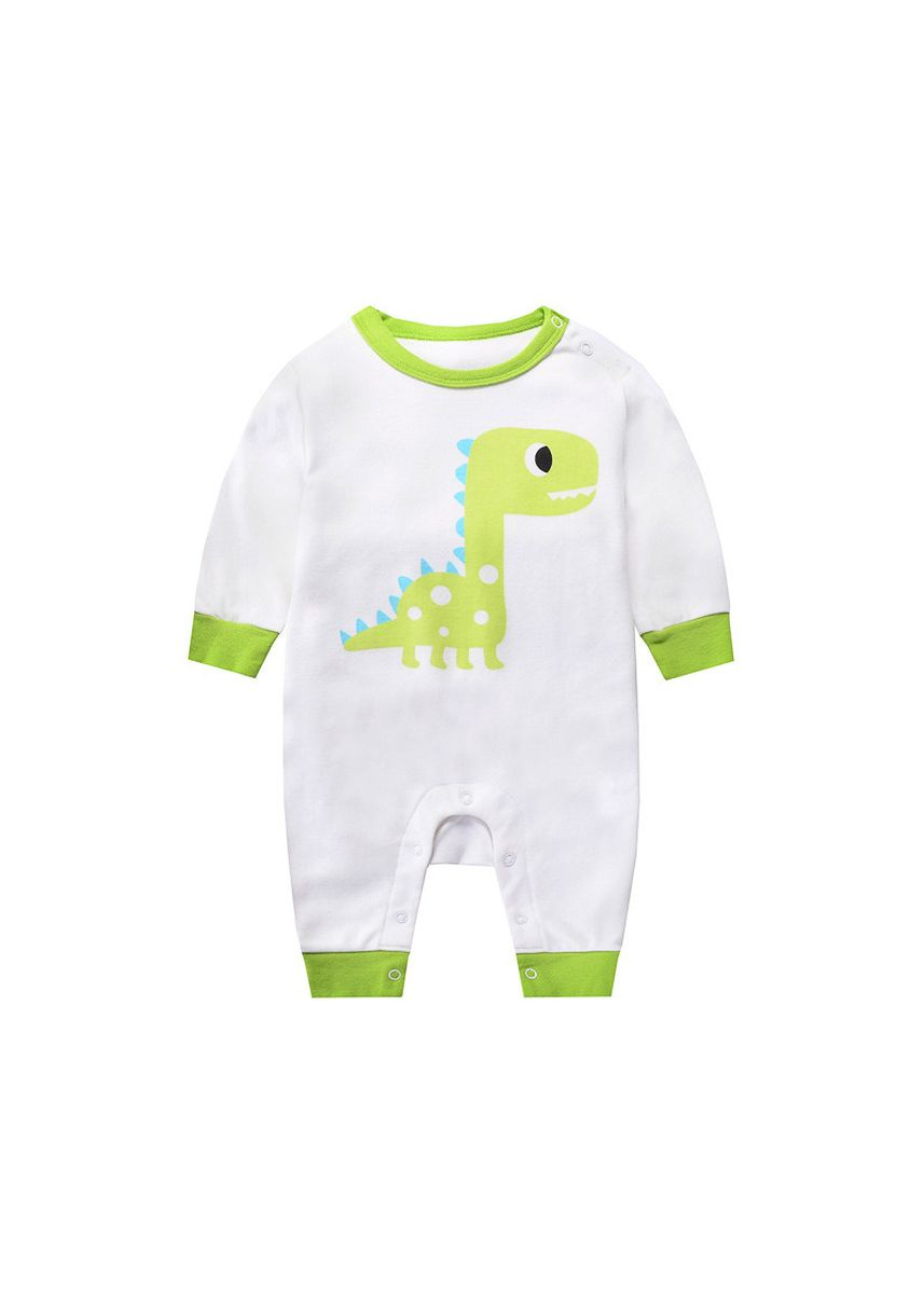 Green color Onesies . 18 Years Baby Boy's Jumpsuit Newborn Animal Print Romper Cotton Dress -