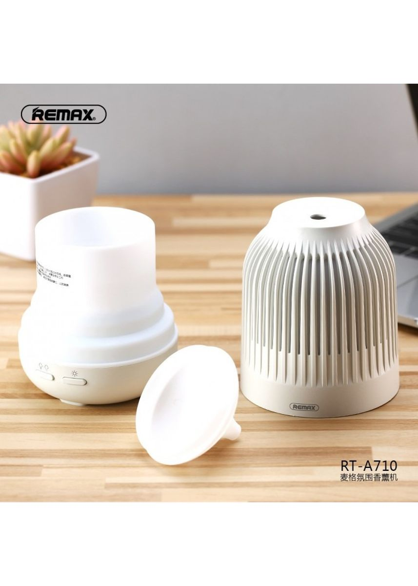 Black color Home Fragrances . REMAX RT-A710 MAG Series Ultrasonic Aroma Diffuser Humidifier 90ML Black -