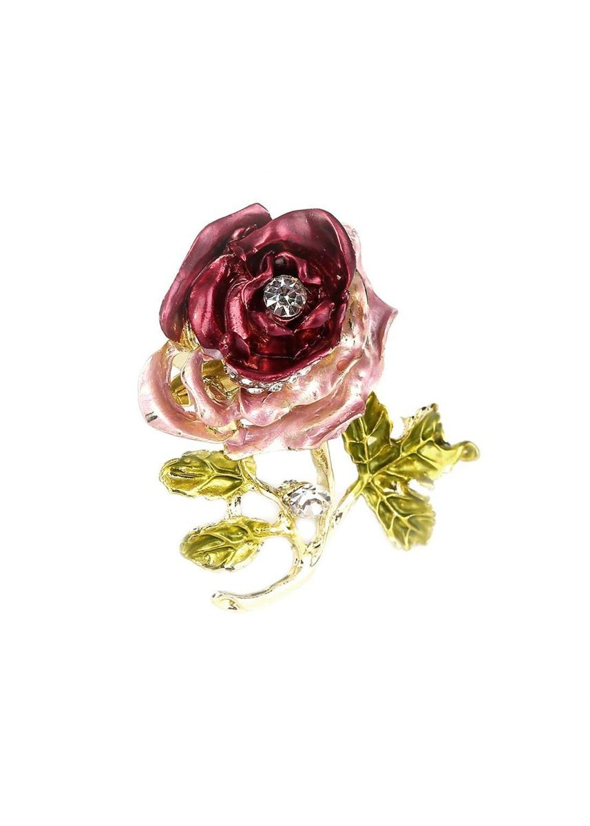 แดง color  . Luxury Elegant Flower Pin Brooch -