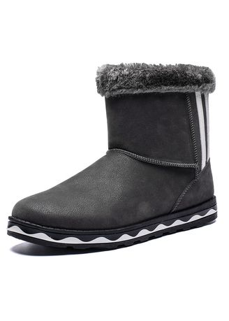 Grey color Boots . In The Tube Snow Boots Warm Cotton Plus Velvet Thickening Students -