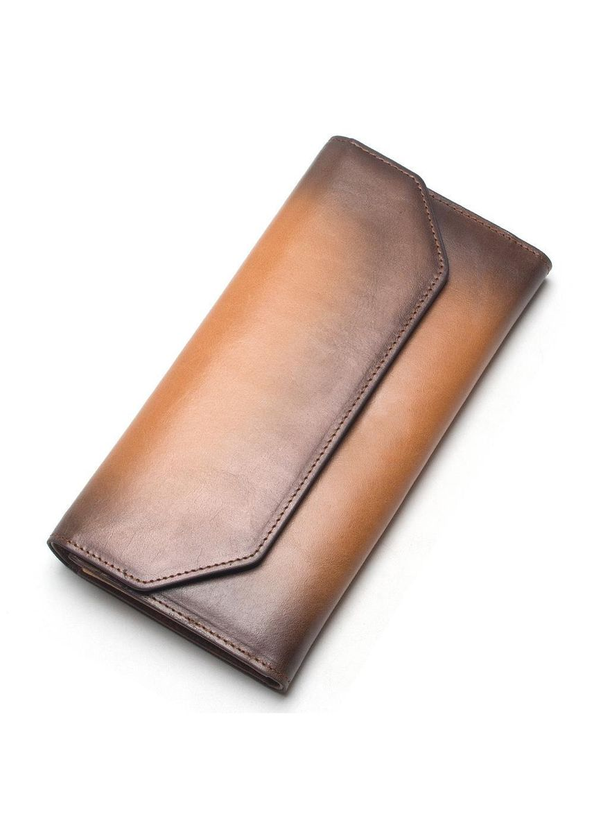 Brown color Wallets and Clutches . New Fashion Wallet Ladies Leather Retro Brand Long Coin -