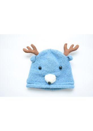 . Children's Wool Moose Hat Baby Knit And Warm INS Head Cap -
