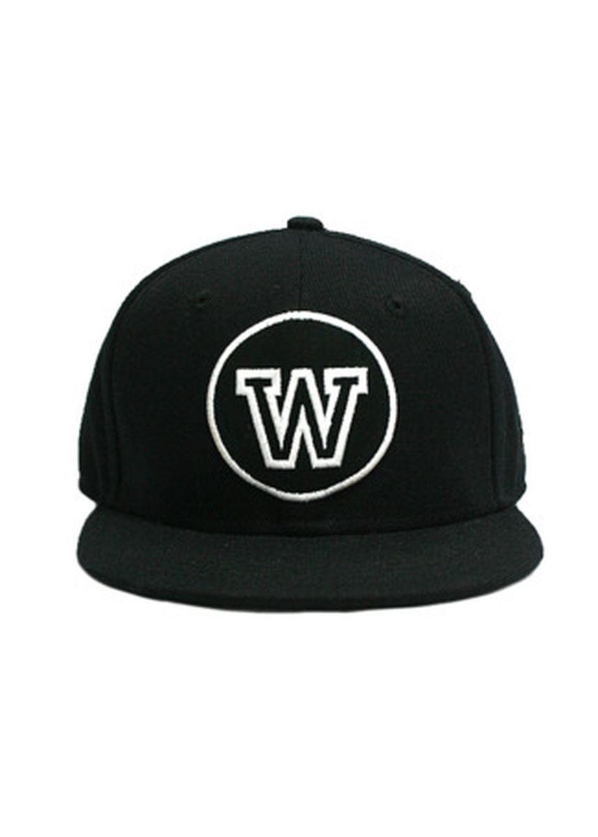 """Black color Hats and Caps . WIP """"W"""" Round Up Baby Cap -"""