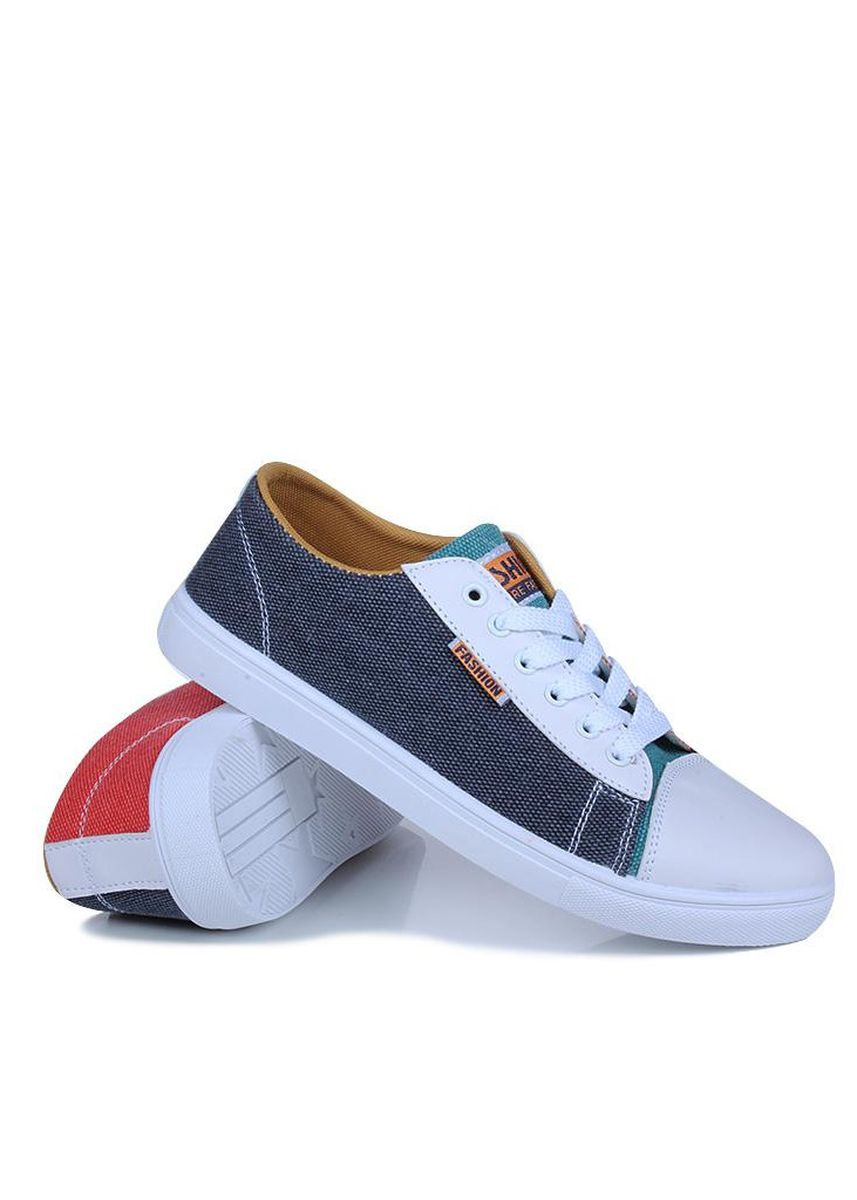 เทา color รองเท้ากีฬา . Men Canvas Sneakers Splicing Canvas Shoes Low Cut Casual Shoes -