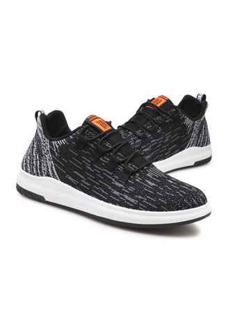 Black color Sports Shoes . Men Fly Weaving Sneakers Low-cut Sports Shoes Breathable Running Shoes -