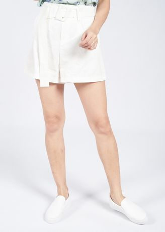 White color Shorts . HIgh Waist Shorts -