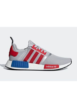 9adaf07222631 Adidas Originals รองเท้า NMD R1 Grey   Red   Blue (F99714)
