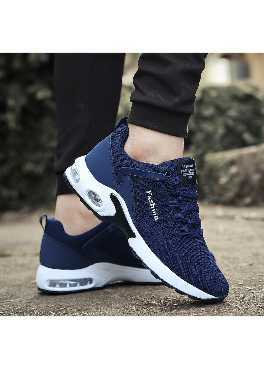 Blue color Sports Shoes . Mens Cushion Mesh Casual Sport Running Shoes -
