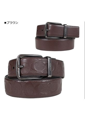 2aa95441546 Coach Wide Harness Cut-To-Size Reversible Signature Leather Belt ...
