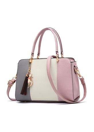 Pink color Hand Bags . Tide Fashion Casual Women's Bag Slung Shoulder -