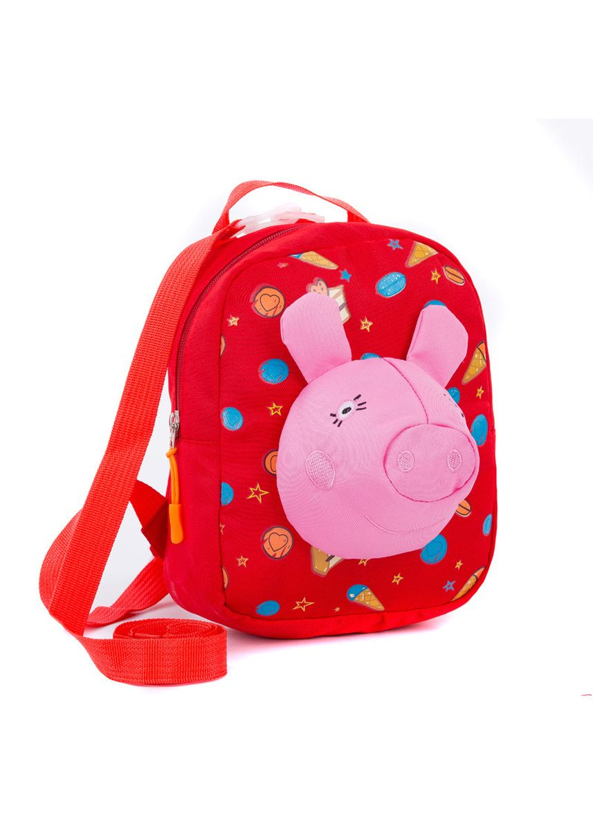 Red color Bags . And Trend 3D Bag Cartoon Pecs Backpack Fashion Pupils Parent-child -