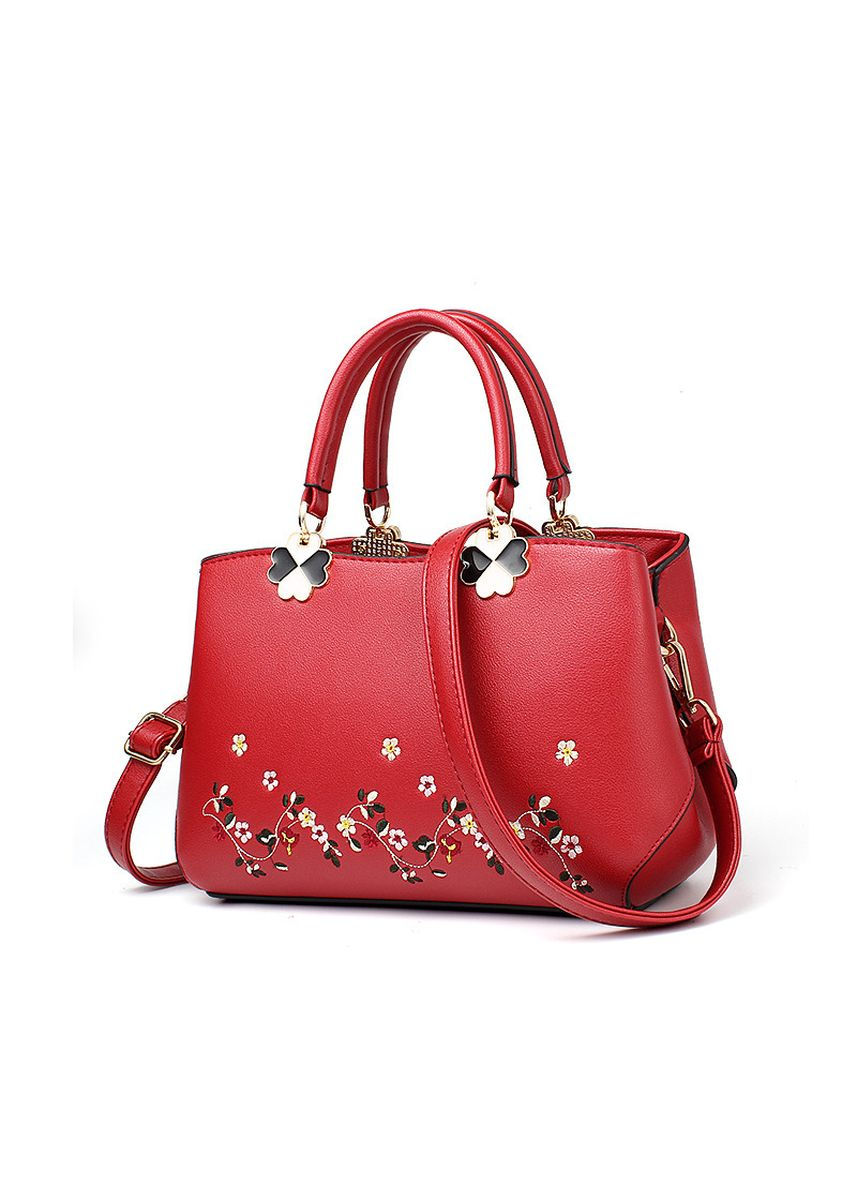 Red color Hand Bags . Women Style Embroidery Handbags  -