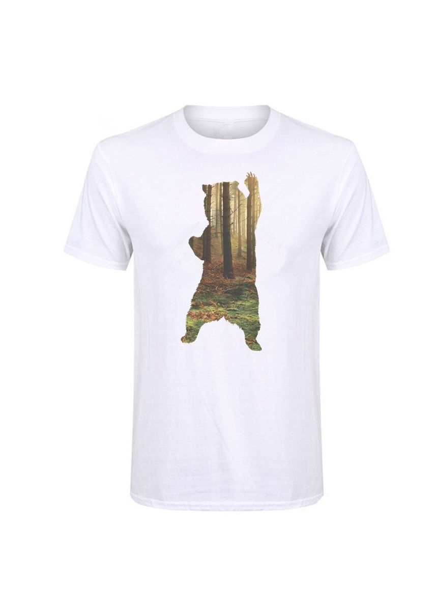 White color T-Shirts and Polos . Three-dimensional fashionable personality pattern T-shirt -