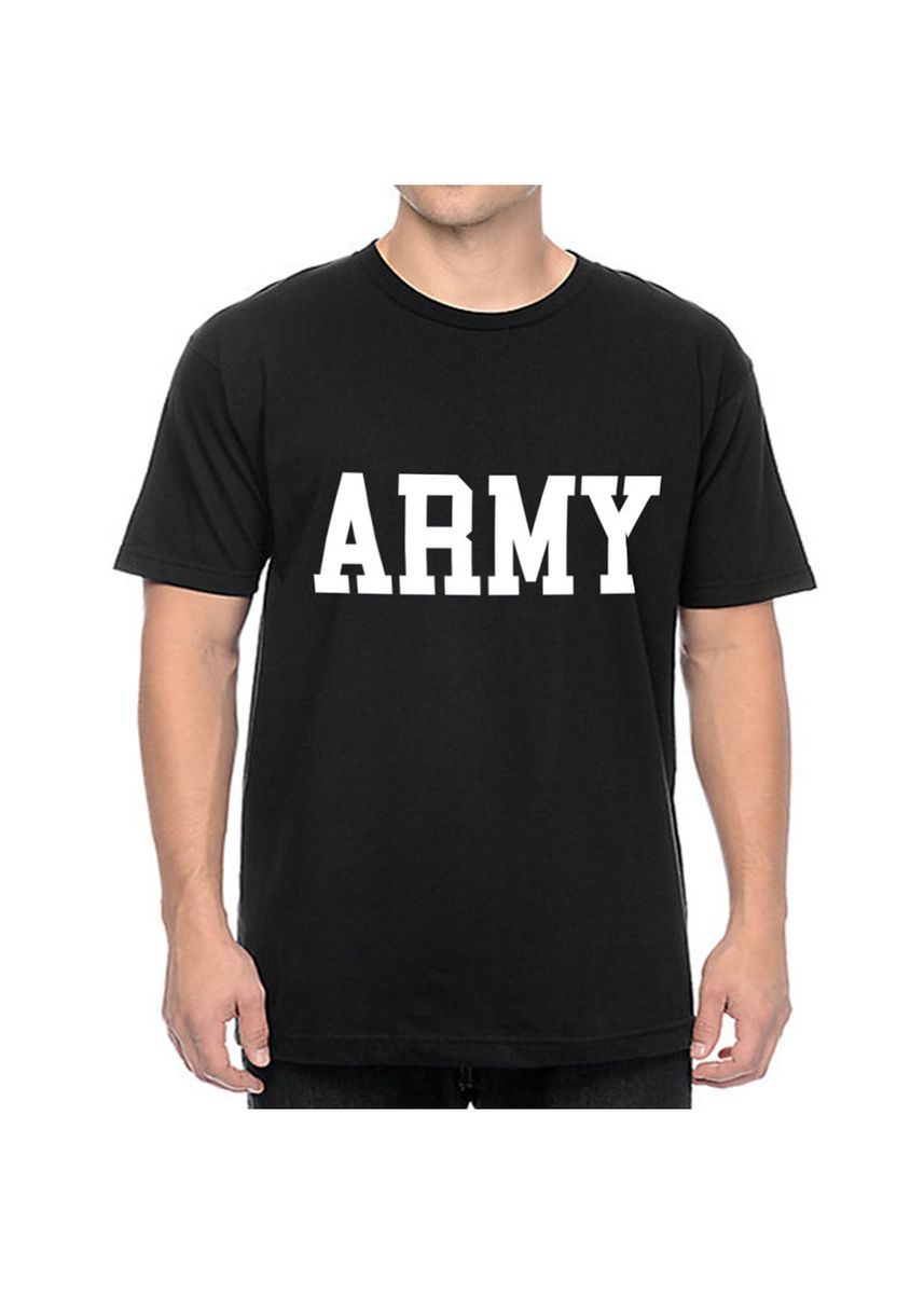 Black color T-Shirts and Polos . U.S. Army soldiers Printed T-shirts  -