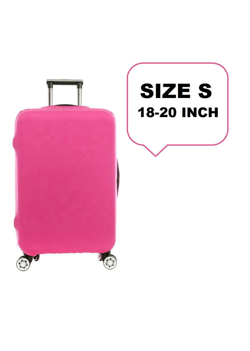 Pink color Travel Wallets & Organizers . FIRST PROJECT - SARUNG PELINDUNG KOPER ELASTIS POLOS LUGGAGE COVER PROTECTIVE SUITCASE SIZE S (18-20 INCH) -