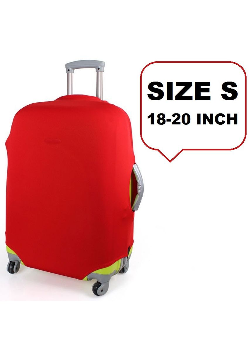 Red color Travel Wallets & Organizers . FIRST PROJECT - SARUNG PELINDUNG KOPER ELASTIS POLOS LUGGAGE COVER PROTECTIVE SUITCASE SIZE S (18-20 INCH) -