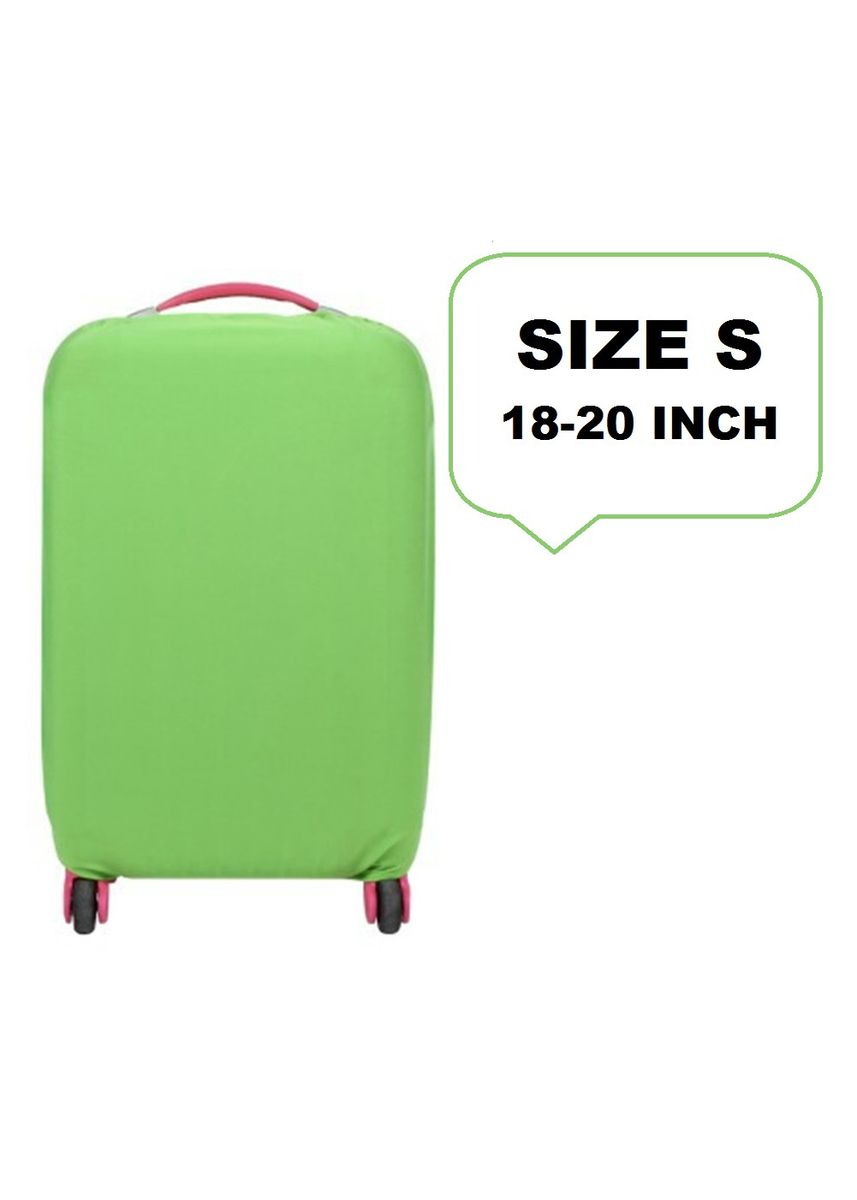 Green color Travel Wallets & Organizers . FIRST PROJECT - SARUNG PELINDUNG KOPER ELASTIS POLOS LUGGAGE COVER PROTECTIVE SUITCASE SIZE S (18-20 INCH) -