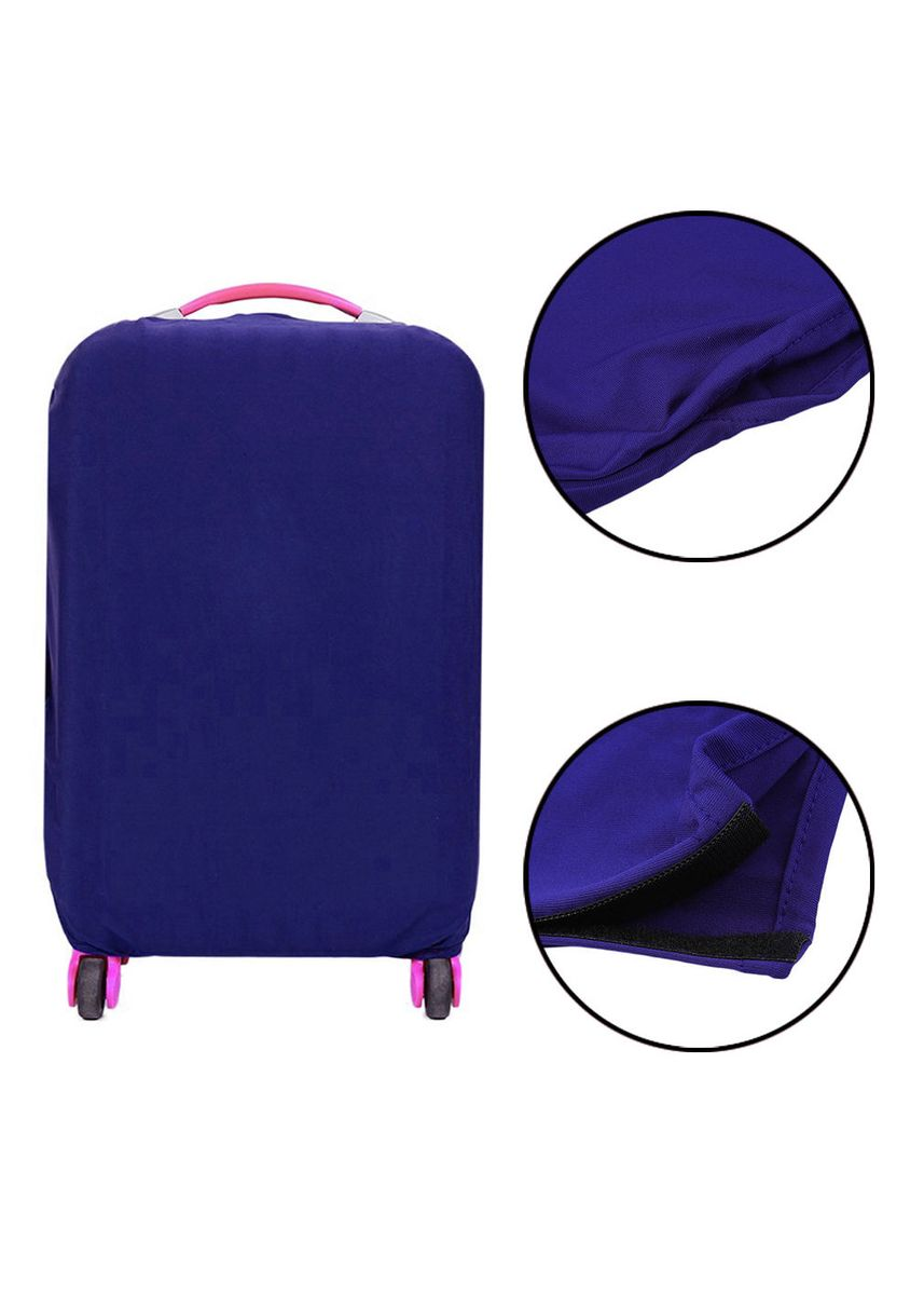 Blue color Travel Wallets & Organizers . FIRST PROJECT - SARUNG PELINDUNG KOPER ELASTIS POLOS LUGGAGE COVER PROTECTIVE SUITCASE SIZE S (18-20 INCH) -