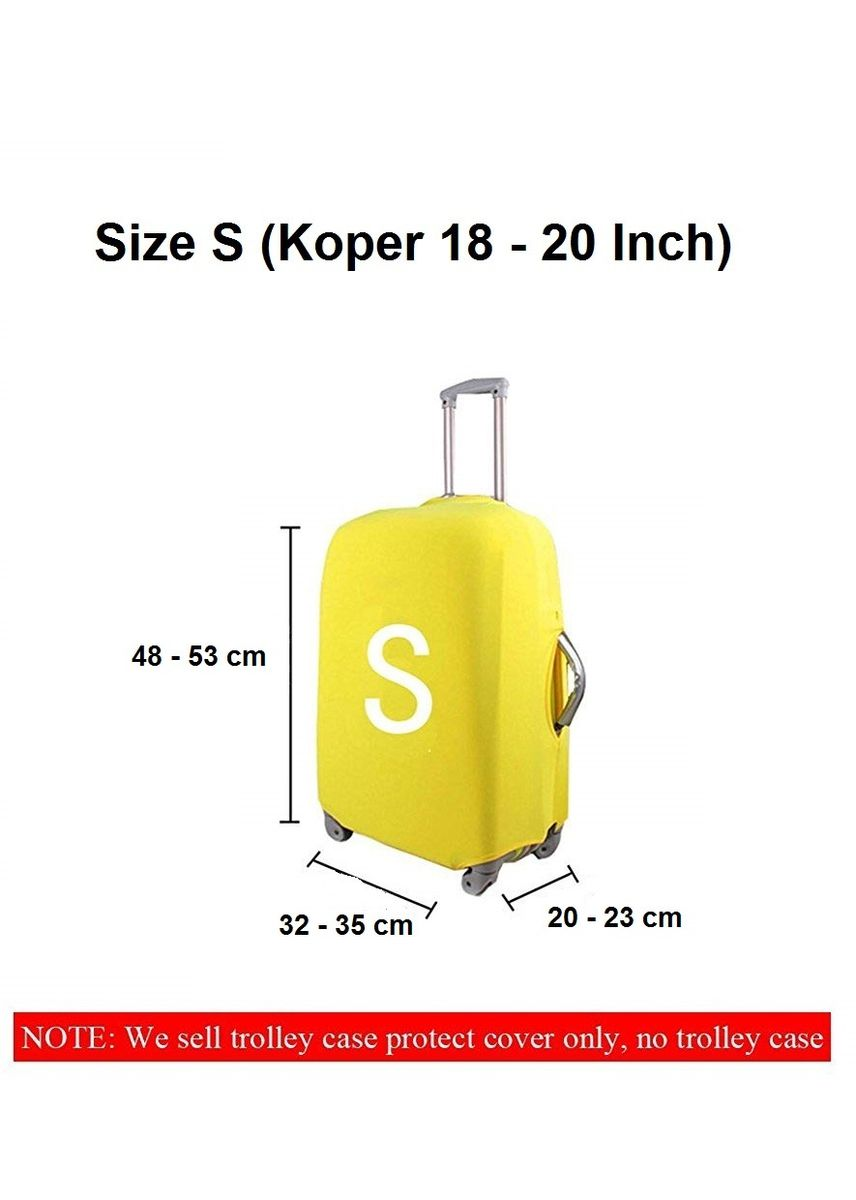 Grey color Travel Wallets & Organizers . FIRST PROJECT - SARUNG PELINDUNG KOPER ELASTIS POLOS LUGGAGE COVER PROTECTIVE SUITCASE SIZE S (18-20 INCH) -