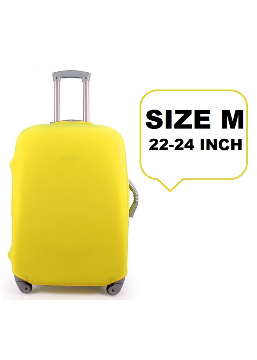 Yellow color Travel Wallets & Organizers . FIRST PROJECT - SARUNG PELINDUNG KOPER ELASTIS POLOS LUGGAGE COVER PROTECTIVE SUITCASE SIZE M (22-24 INCH) -