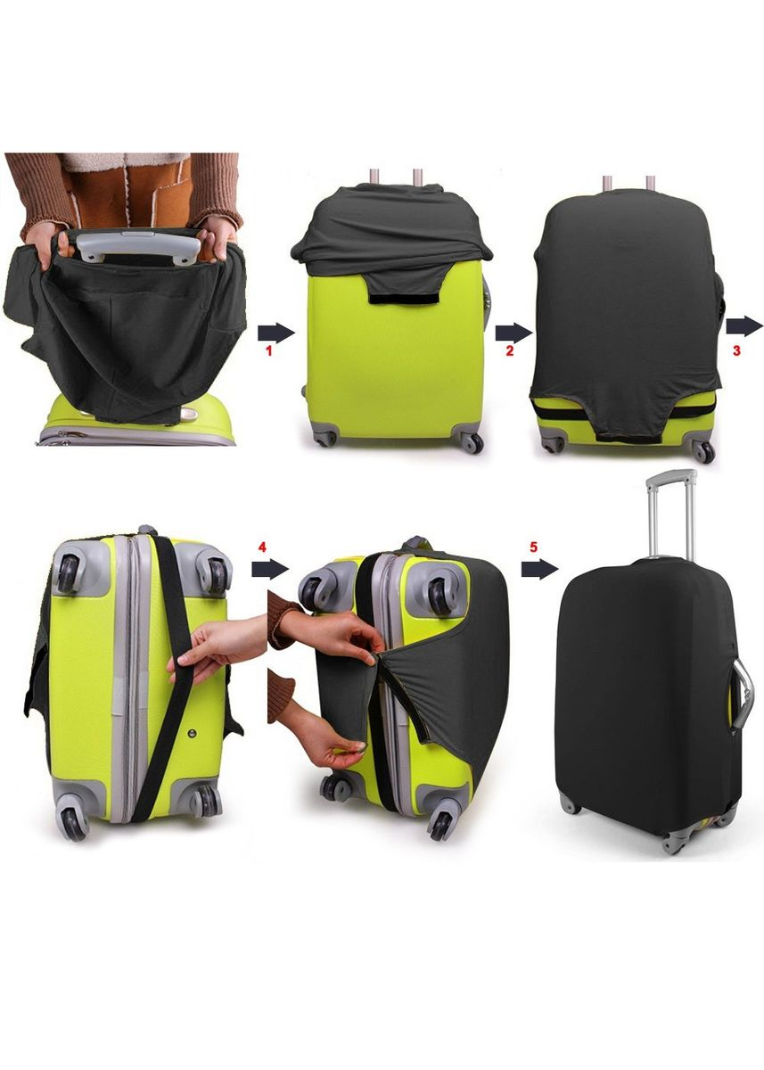 Green color Travel Wallets & Organizers . FIRST PROJECT - SARUNG PELINDUNG KOPER ELASTIS POLOS LUGGAGE COVER PROTECTIVE SUITCASE SIZE M (22-24 INCH) -