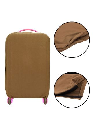 Brown color Travel Wallets & Organizers . FIRST PROJECT - SARUNG PELINDUNG KOPER ELASTIS POLOS LUGGAGE COVER PROTECTIVE SUITCASE SIZE L (26-30 INCH) -