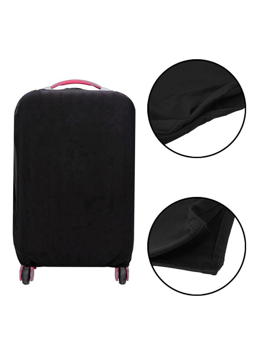 Black color Travel Wallets & Organizers . FIRST PROJECT - SARUNG PELINDUNG KOPER ELASTIS POLOS LUGGAGE COVER PROTECTIVE SUITCASE SIZE XL (31-32 INCH) -