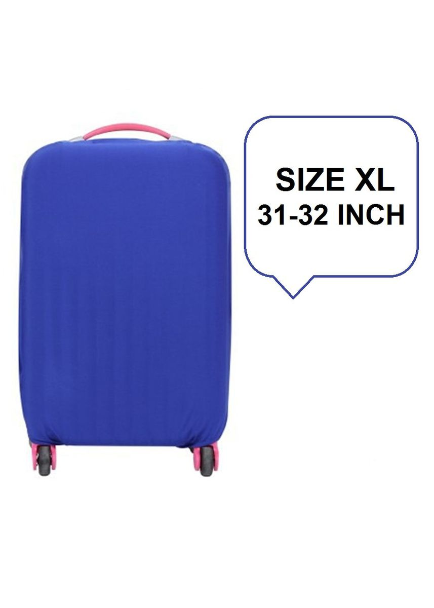 Blue color Travel Wallets & Organizers . FIRST PROJECT - SARUNG PELINDUNG KOPER ELASTIS POLOS LUGGAGE COVER PROTECTIVE SUITCASE SIZE XL (31-32 INCH) -