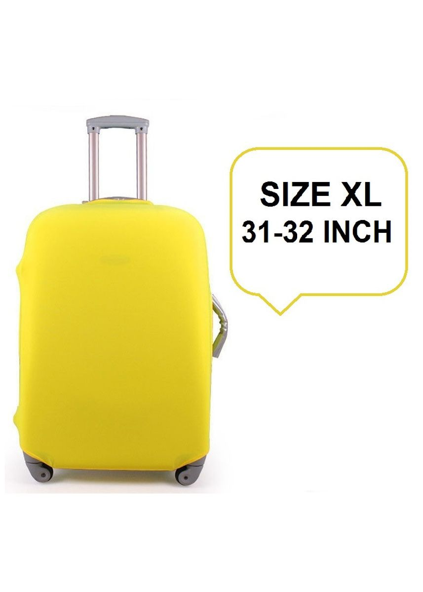 Yellow color Travel Wallets & Organizers . FIRST PROJECT - SARUNG PELINDUNG KOPER ELASTIS POLOS LUGGAGE COVER PROTECTIVE SUITCASE SIZE XL (31-32 INCH) -