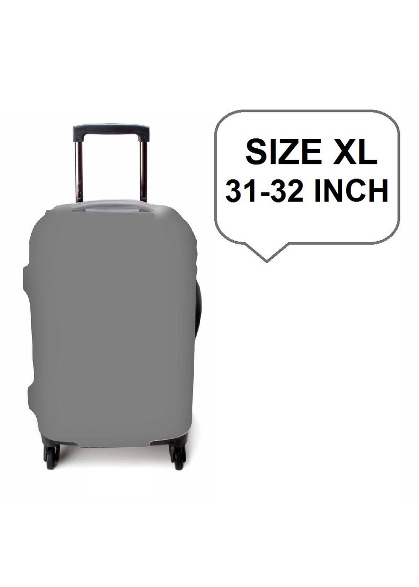 Grey color Travel Wallets & Organizers . FIRST PROJECT - SARUNG PELINDUNG KOPER ELASTIS POLOS LUGGAGE COVER PROTECTIVE SUITCASE SIZE XL (31-32 INCH) -