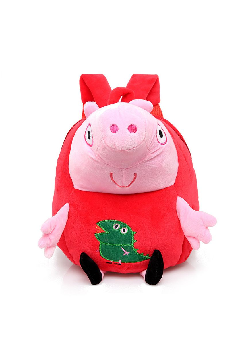 Red color Bags . Pig Peggy Kindergarten Children's School Bag Cute Plush Toy 1-3 Old -