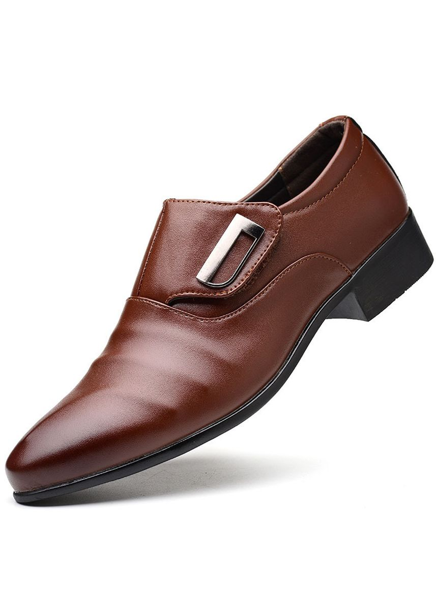 Brown color Formal Shoes . Men's Business Dress Pointed Casual Shoes -